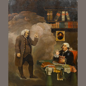 English School, 18th Century Dr Johnson and George III 126.5 x 100.8 cm. (49¾ x 39¾ in.)