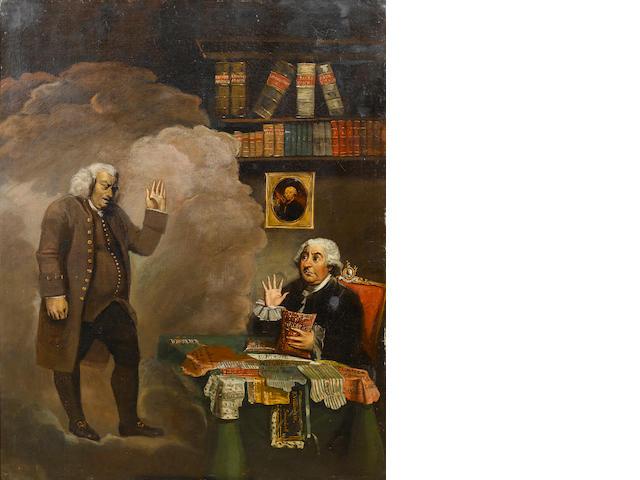 English School, 18th Century Dr Johnson and George III 126.5 x 100.8 cm. (49¾ x 39¾ in.)