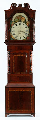 A large mid 19th century inlaid mahogany-cased 8-day painted dial longcase clock Anonymous, circa 1860