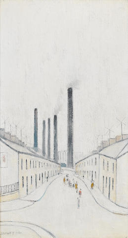 Laurence Stephen Lowry R.A. (British, 1887-1976) Street in Cwm, South Wales 45.7 x 25.4 cm. (18 x 10