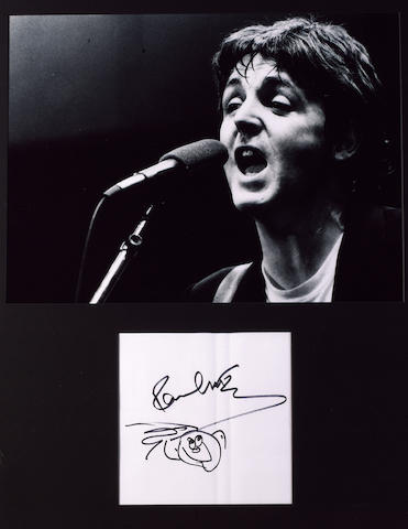 Paul McCartney's autograph,