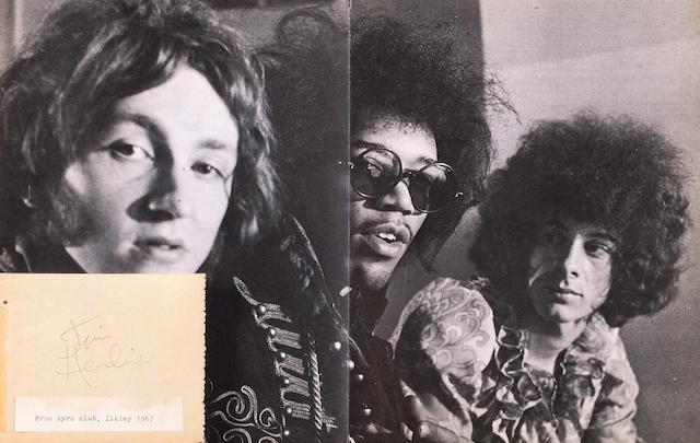 Jimi Hendrix's autograph, 1967,