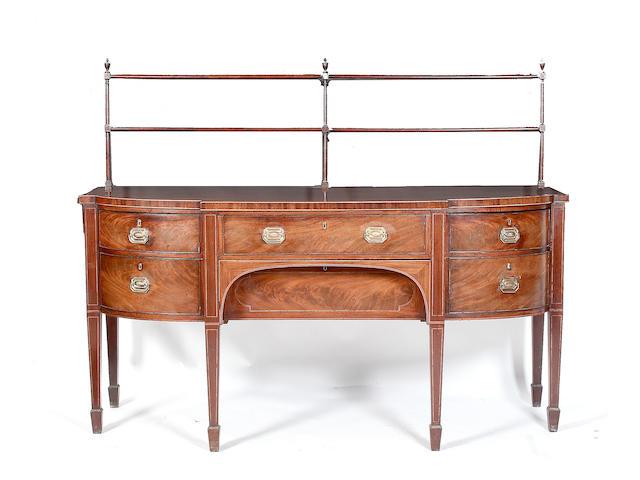 A Regency mahogany breakfront sideboard
