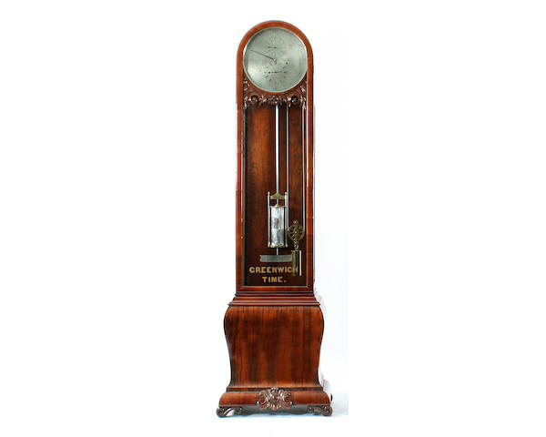 A fine late Victorian rosewood-cased single-hand regulator longcase clock Bruford & Son of Eastbourne sold with weight, pendulum, mercury jar and key