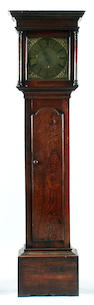 An C18th oak cased 30 hour brass dial longcase clock.brandreth of Middlewich single hand with Pendul