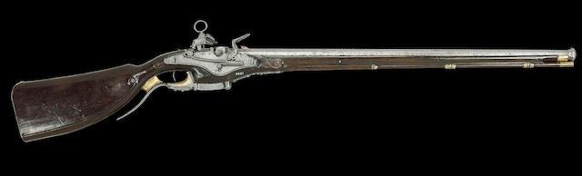 An Exceptional 38-Bore Six-Shot Flintlock Breech-Loading Magazine Carbine On The Kalthoff Principle