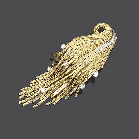 A diamond-set brooch, by Boivin,
