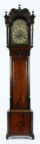 A good early George III mahogany-cased 8-day brass-dial longcase clock Nathaniel Brown of Manchester, (fl. c. 1750-1775) sold with two weights plus pendulum