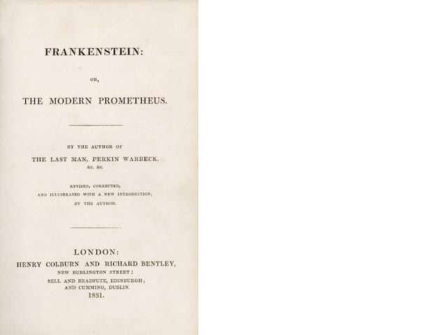 SHELLEY (MARY WOLLSTONECRAFT) Frankenstein: or, the Modern Prometheus