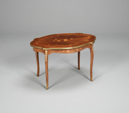 A Louis XV style kingwood and gilt metal occasional table