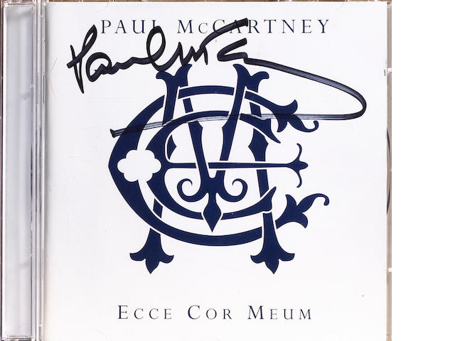 A signed copy of the album 'Ecce Cor Meum', 2006,