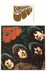 The original draft design for the 'Rubber Soul' album cover lettering,  1965,