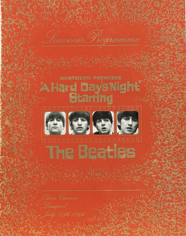 A scarce programme for the Northern Premiere of 'A Hard Day's Night',