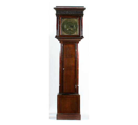 An early George III oak and mahogany-cased 30-hour brass-dial longcase clock Stephenson of Congleton, circa 1770 sold with weight, pendulum and key