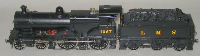 Constructed kit with motor 4-4-0 LMS 4P 1057 and tender