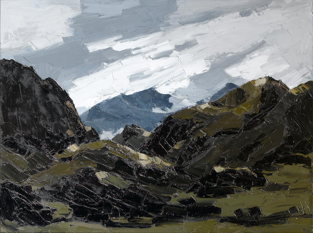 Sir Kyffin Williams, R.A. (British, 1918-2006) Mount Snowdon from Nantlle 91.5 x 122 cm. (36 x 48 in.)