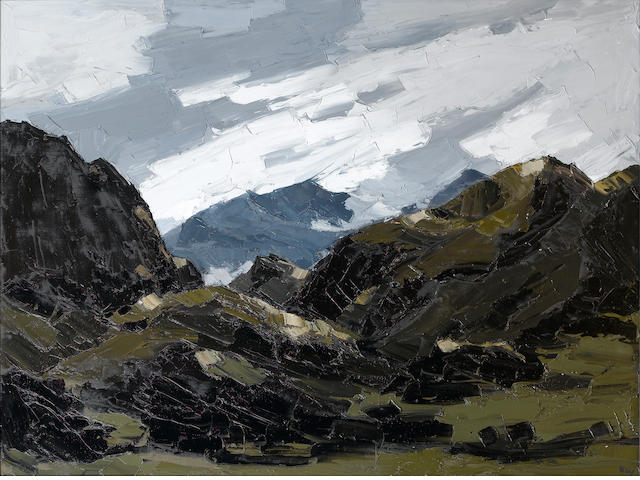 Sir Kyffin Williams  (British, 1918-2006) Mount Snowdon from Nantlle 91.5 x 122 cm. (36 x 48 in.)