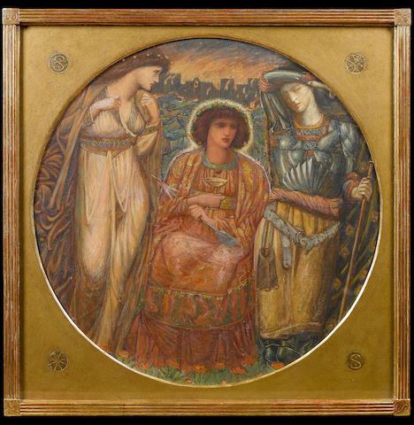 Bernard Sleigh (British, 1872-1954) 'The Fall of Troy' 53 cm. (21 in.) diameter, tondo