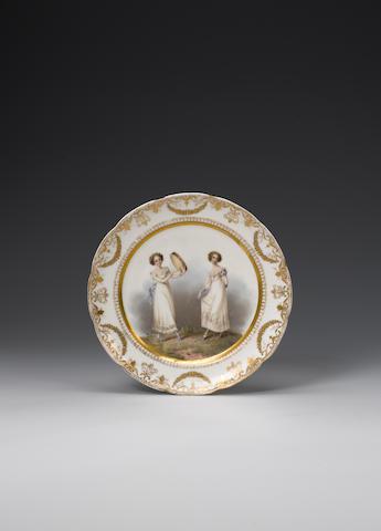 An important Nantgarw plate circa 1818-20
