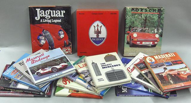 A quantity of subject books relating to various marques,