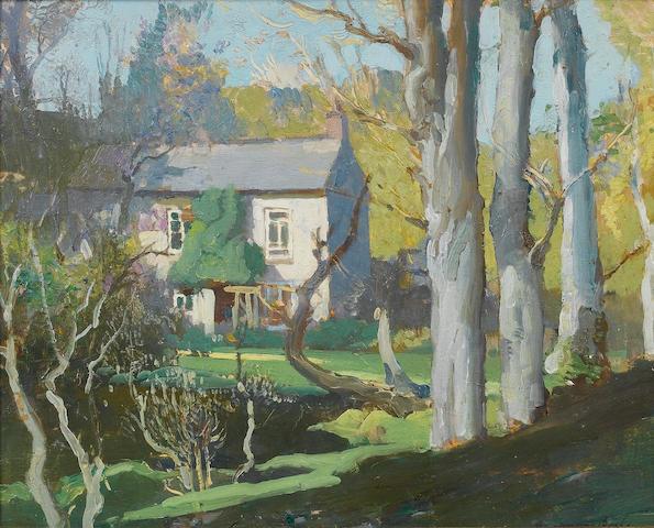 Samuel John Lamorna Birch R.A., R.W.S., R.W.A. (British, 1869-1955) Oriental Cottage, Lamorna 25.5 x