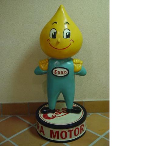 A hand-painted Esso 'Mr Drip' promotional forecourt figure,