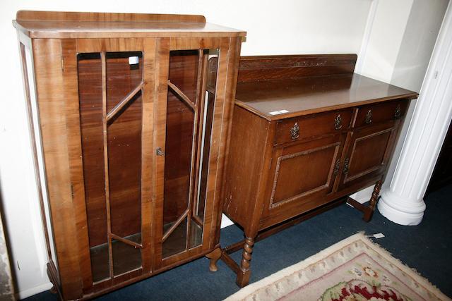An early 20th century oak sideboard
