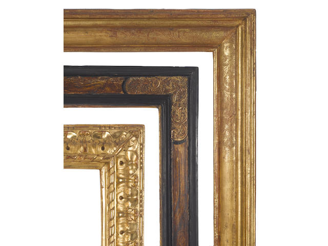 A Louis XIII gilded moulding frame