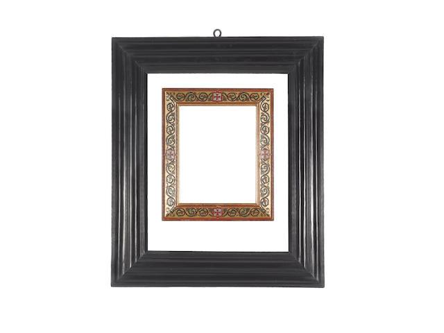 A Dutch 17th Century ebony moulding frame