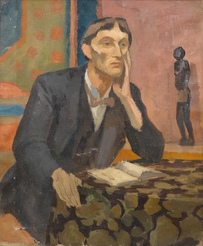 Roger Fry (British, 1866-1934) Portrait of Arthur Waley 76.2 x 63.5 cm. (30 x 25 in.)