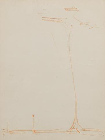 Alberto Giacometti (Swiss, 1901-1966) Man Under Tree 35 x 26 cm (14 x 10 in)