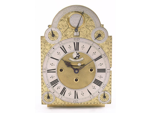 An early 18th century Dutch musical and quarter repeating bracket clock movement Steven Hoogendyk, Rotterdam