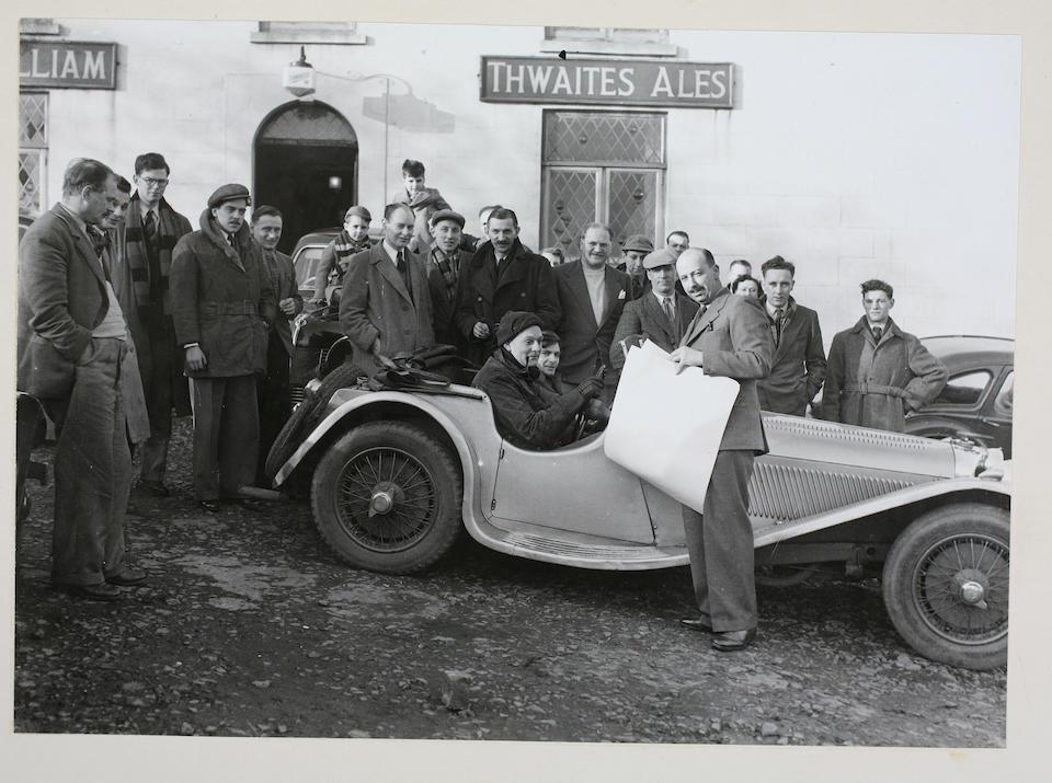 1937 SS 100 Jaguar Roadster  Chassis no. 18054 Engine no. 252018