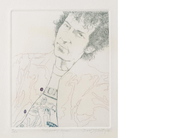 David Oxtoby: prints of Bob Dylan, 1970s,