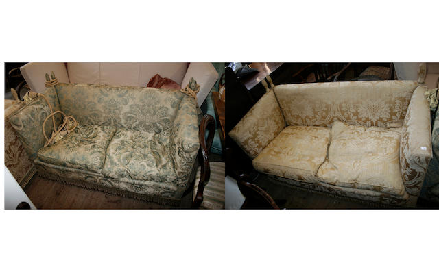 A two seater Knoll sofa,