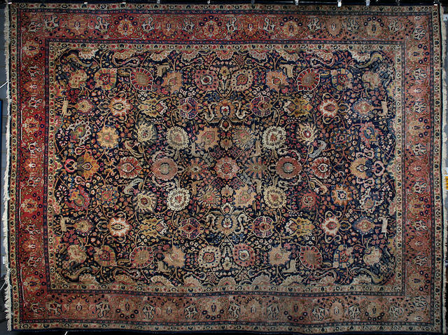 A large Tabriz carpet North West Persia, 472cm x 358cm