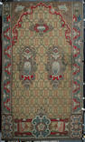 A 19th century wool and metal thread Spanish carpet 344cm x 203cm