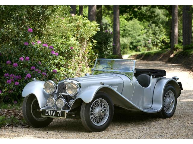 1937 SS 100 Jaguar Roadster  Chassis no. 18054 Engine no. 252018