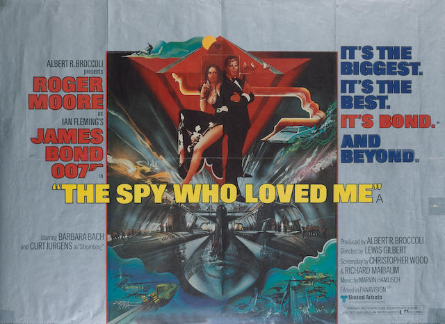 Six Roger Moore as James Bond related film posters, 1973-1983, being both UK and US style posters,