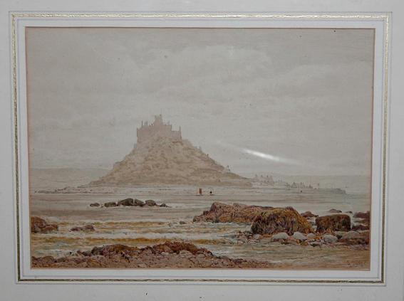 Arthur Suker (1857 - ? British) St Michael's Mount, signed lower right 17x 27cm