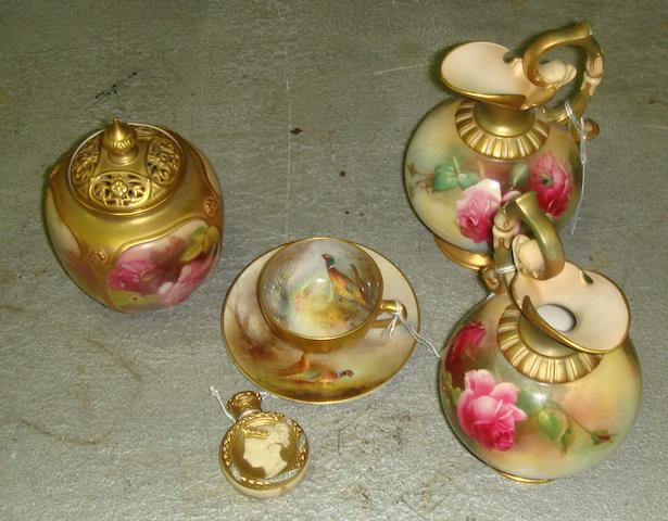 A selection of Royal Worcester items