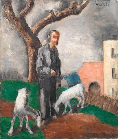 Alice Halicka (Polish, 1895-1975) Le chevrier 74 x 63 cm (29 1/8 x 24 3/4 in) unframed