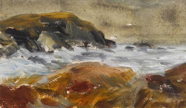 Gwilym Pritchard (British, b.1931) Coastal landscape,