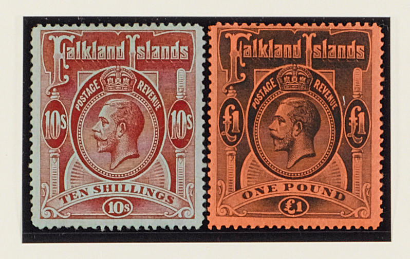 Falkland Islands: 1912-20 MCA ½d. to £1 mint with 5/- maroon, mainly fine. SG £850. (197)