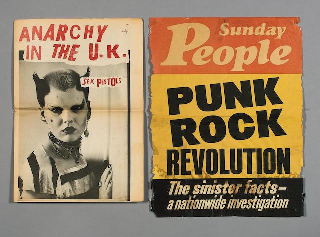 Punk memorabilia, 1976/77,