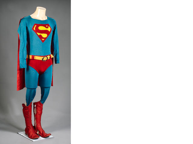 A Christopher Reeve costume from 'Superman', 1978,