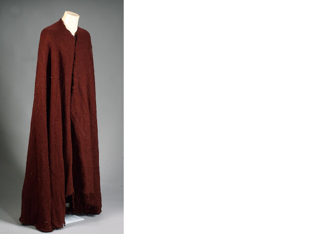 A cloak worn by Russell Crowe in 'Gladiator', 2000,