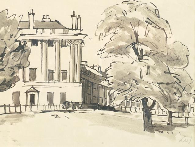 Sir Kyffin Williams  (British, 1918-2006) Royal Crescent Bath,