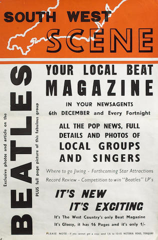 An unusual poster for 'South West Scene' magazine,  December 1963,