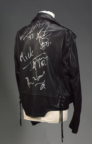 An autographed 'Voodoo Lounge' tour jacket,